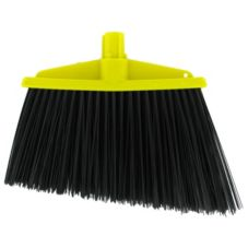 SYR Yellow Angled Broom with Black Bristles