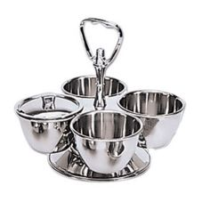 Adcraft® Stainless Steel 4 Bowl Revolving Server
