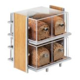 Cal-Mil® 1279 Silver Wire and Bamboo Bread Box