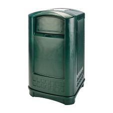 Rubbermaid® FG396500DGRN Plaza Green 50 Gal Can with Ashtray Top