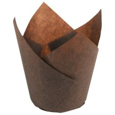 Hoffmaster® 611104 Large Chocolate Tulip Cups - 2500 / CS