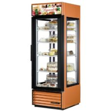 True Food Service Glass 4-Sided Desserts Swing Door Merchandiser