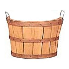 Texas Basket Co. 141-SP Cut 1/2 Bushel Basket With Handle