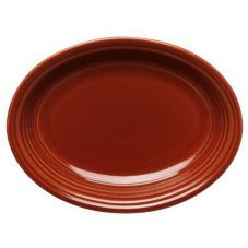 "Homer Laughlin China 457334 Paprika 11-5/8"" Oval Platter - 12 / CS"