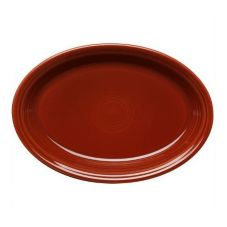 "Homer Laughlin China 458334 Fiesta Paprika 13-5/8"" Platter - 12 / CS"