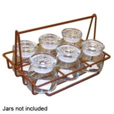 Quadra-Tech Brown Powder Coated Finish Wire Holder f/ 6 Condiment Jars