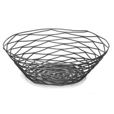 "Tablecraft BK17510 Artisan Collection 10"" Black Metal Basket"