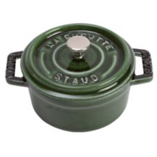 Staub USA 1101085 Basil Cast Iron .25 Qt Mini Round Cocotte