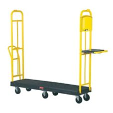 Rubbermaid FG9T4500BLA StockMate ES Restocking Truck with Hinged Deck