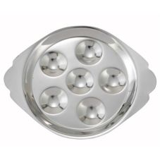 Winco™ SND-6 Mirror Finish S/S Snail (Escargot) Dish w/ 6 Holes