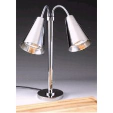 D.W. Haber Modern Satin Finish Double Head Portable Heat Lamp