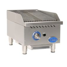 "Globe Food GCB15G-RK Countertop 15"" Char Rock Gas Charbroiler"