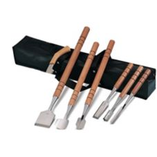 JB Prince Gold Medal 8-Piece Ice Carving Tools Set with Bag