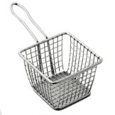 "American Metalcraft FRYS443 S/S 4"" Square Fry Basket"