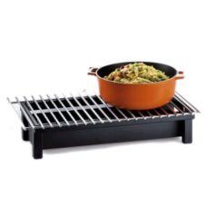 "Cal-Mil 1348-22-13 Black 22 x 12"" Modern Style Cook N Serve Riser"