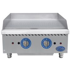 """Globe Food GG24TG Countertop S/S Thermostatic 24"""" Gas Griddle"""