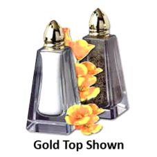 Reiner Products Malibu Glass Salt & Pepper Shaker w/ Chrome Top