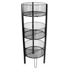 Grand & Benedicts 289-TLB-B Black 3-Tier Bin Display
