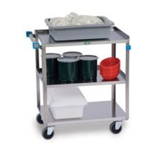 Lakeside S/S 3-Shelf 300-Lb. Capacity Utility Cart w/ Locking Casters