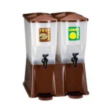 Tablecraft TW54DPH Slimline Twin 3 Gallon Brown Beverage Dispenser