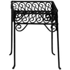 American Metalcraft PSS77 Contempo Black Square Scroll Pizza Stand