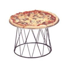 "American Metalcraft Contempo™ Black Drum 7""H Pizza Stand"