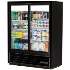 True Convenience Store Low Profile 2-Door Slide Cooler