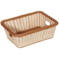 """G.E.T.® WB-1515-TT Polyweave 18-1/2 x 13-1/2"""" Two Tone Basket"""