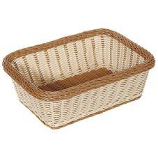"""G.E.T.® WB-1518-TT Polyweave 15"""" x 11"""" Two Tone Basket"""