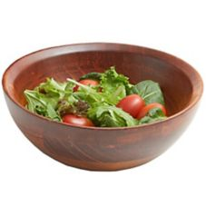 "Woodard & Charles WC501 Cherry Wood Medium 11"" x 4-1/2"" Salad Bowl"