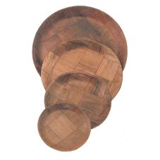 "Update International WRP-8 Woven Wood 8"" Salad Plate - 36 / PK"