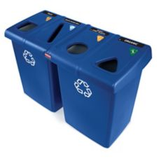 Rubbermaid® Glutton® Blue Recycling Station