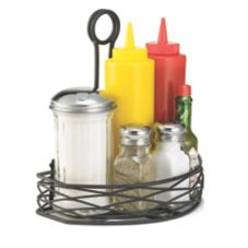 Tablecraft BK167912 Artisan Versa Rack™ Black Condiment Rack