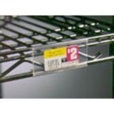 "Eagle® Foodservice A208746 Clear Plastic 3"" Shelf Marker"