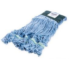 Carlisle Flo-Pac® Blue Medium Loop-End Mop with Green Band