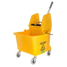 Carlisle Flo-Pac® Yellow Down-Press Wringer 26-35 Qt Bucket