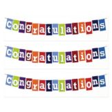 Lucks™ 16636 Designer Prints Congratulations Banner - 36 / BX