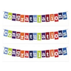 Lucks™ Designer Prints™ Congratulations Banner