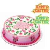 DecoPac 14933 Happy Easter With Flowers Lay-On - 24 / BX
