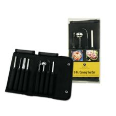 Mercer Cutlery M15990 Carving 9-Piece Tool Set with Sharpening Stone