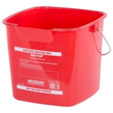 Carlisle® 1182905 6 Qt. Red Square Steri Pail®