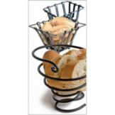 "Orion I1679-B 7"" x 6"" Black Iron Bread Basket"