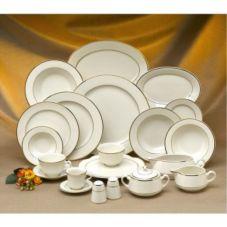 Homer Laughlin 3751409 Diplomat Gold 4.25 Oz Fruit Dish - 36 / CS