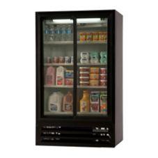 Beverage-Air LV17-1-B LumaVue Black Reach-In Refrigerated Merchandiser