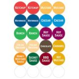 Fundamental Designs Washable Generic Condiment Starter Labels