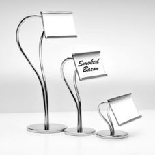 "Culinaire SGN-13 Polished Chrome 9-1/2"" S-Curve Tag Holder"