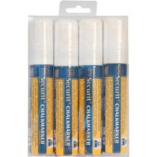 American Metalcraft 4 Pack Large Tip White Chalk Marker Set