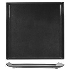 "Churchill China ZPL MST 1 11.88"" Black Square Tray - 4 / CS"