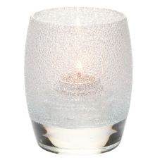 Hollowick® 6404CI Clear Ice Contour Glass Votive Lamp