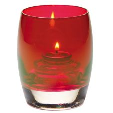 Hollowick® 6404R Ruby Lustre Contour Glass Votive Lamp